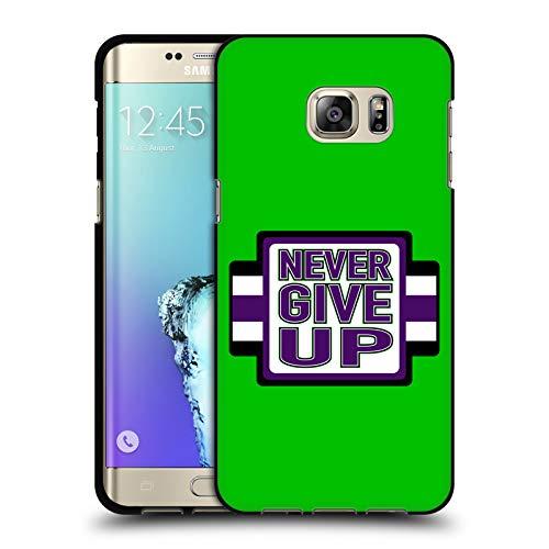 Head Case Designs Offizielle WWE John Cena Never Give Up 2018/19 Superstars 4 Schwarze Soft Gel Huelle kompatibel mit Samsung Galaxy S6 Edge+ / Plus