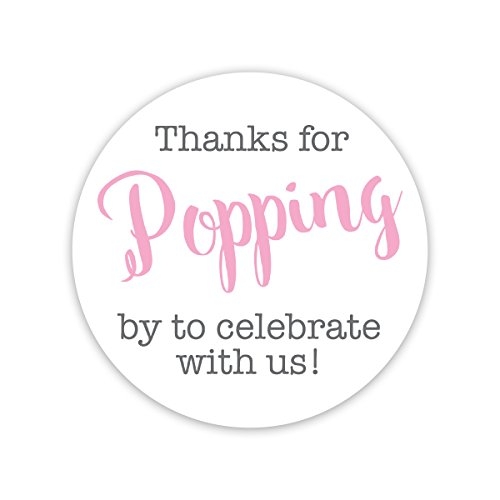 36ct, Thanks for Popping by Stickers, Thanks for Celebrating with Us Stickers (#381-C-BP)