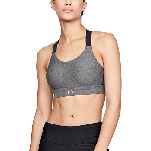 Under Armour Women's Vanish Heather High Impact Sports Bra , Charcoal Fade Heather (019)/Reflective , 34A