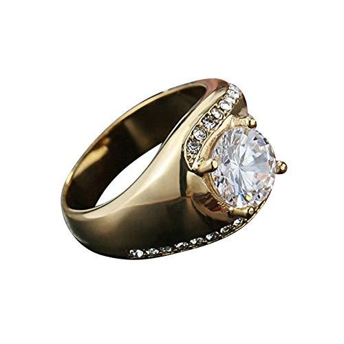 Ubestlove Little Girls Rings Zircon Rings Gothic Punk Rings Jewellery Fashion Ring Gold P 1/2