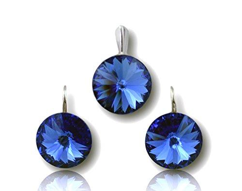 Crystals & Stones *Saphir* *RIVOLI* Elegant Damen Schmuckset mit Kristallen von Swarovski Elements