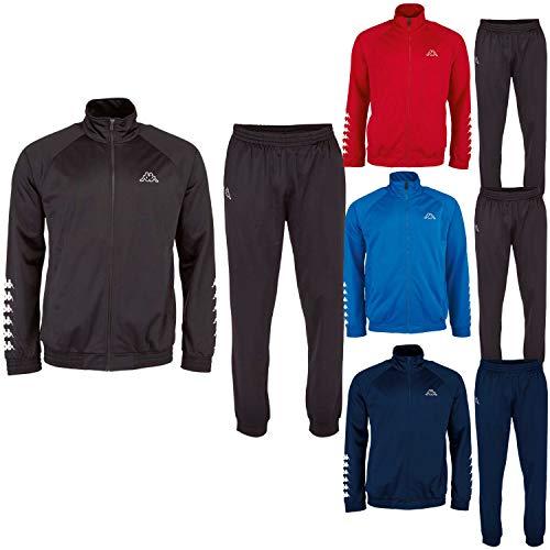 Kappa Trainingsanzug ZiATEC Sport Edition | Sport-Jogginganzug - Trainingsanzug für Fussball, Handball, Basketball, etc, Größe:S, Farbe:blau