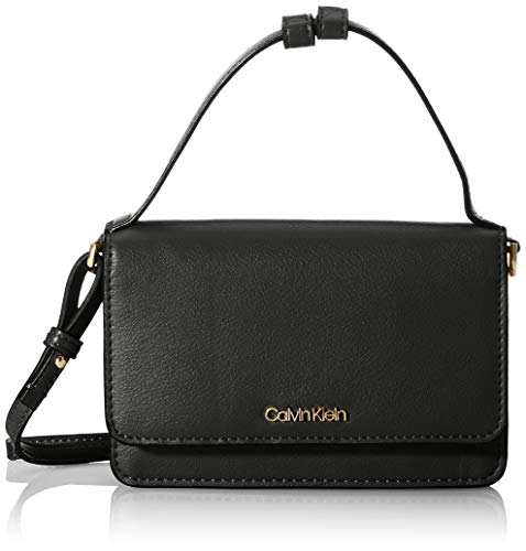 Calvin Klein Damen Flap Wallet Mini Bag W/TOP H Reisezubehör-Reisebrieftasche, Black, One Size