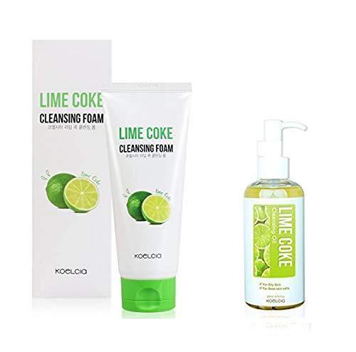 Koelcia Lime Coke Cleansing Foam 120 ml + Huile nettoyante 100 ml
