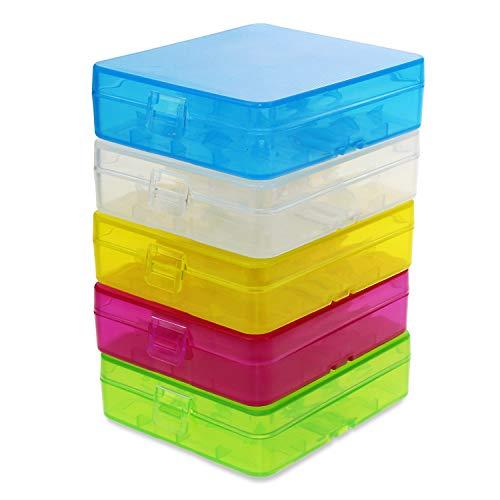 KEESIN Caja de Almacenamiento de la batería 18650 Caja Protectora de la batería Soporte de batería plástico enganchado para la batería 18650/18350 / CR123A / 16340 (4 células * 5 Piezas)