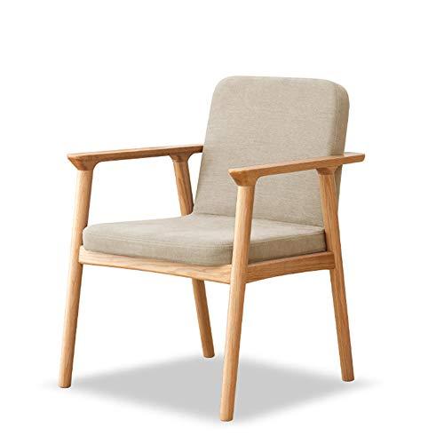Silla de mesa de comedor de madera maciza silla de oficina resistente al desgaste engrosamiento muebles de sala de estar tocador para el hogar silla silla de comedor de cocina sillón 85*61.5*61.5cm