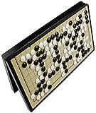 ZOUQILAI Magnética grande Go Set, la Junta plegable, 19 vías Juego de Puzzle Ajedrez Cinco, Ajedrez Go, de Doble Uso de ajedrez, ajedrez for principiantes entrenamiento de tamaño grande, Imán Go.Blanc