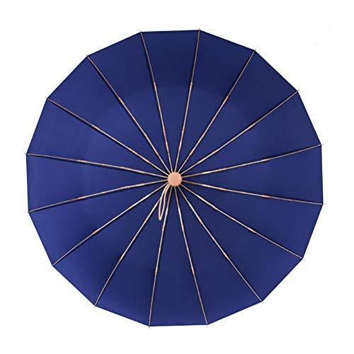 DFSDG Paraguas Vintage luz aleación de Aluminio lluvioso lluvioso Plegable a Prueba de Viento Paraguas Grandes Hombres Lluvia Mujer Regalo Parasol (Color : Blue)