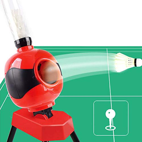 LYN&xxx Badminton Ausrüstung, geeignet für Jugendliche, Anfänger, Badminton automatische Starten Roboter-Sets,Rot