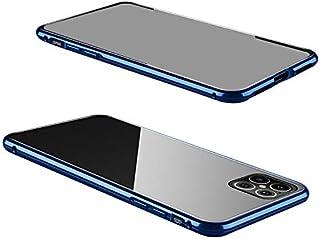 iPhone12 Pro ケース/カバー アルミ バンパー クリア 透明 両面 前後 ガラス マグネット かっこいい アルミサイドバンパー おしゃれ アップル アイフォン12 / 12ミニ /12プロ / 12プロマックス[iPhone 12 ...