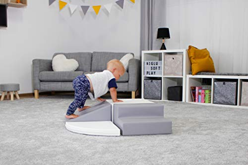 IGLU Brand Soft Play Equipment, XL Soft Play Shapes, Activity Toys with ANTI SLIP - grey/white Baby & Toddler Toys Toy Types