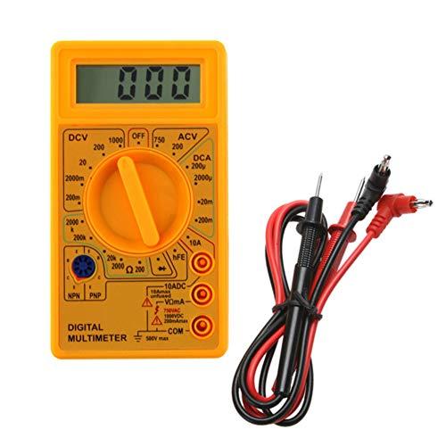 Mectronic Digitales Multimeter mit 7 Funktionen – AC/DC Voltmeter Amperemeter Ohmmeter Diode hFE Tester Volt Amp Ohms