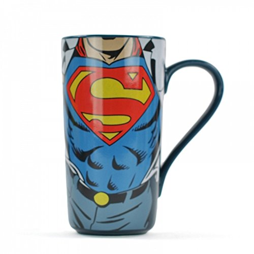 DC Comics - Superman - keramiek latte macchiato mok - man of Steel - geschenkdoos