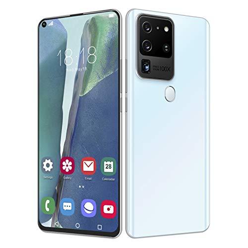 Smartphone Desbloqueado, batería 5000Mah 12 + 512GB Android 10 Dual Sim Face ID + Huella Dactilar Desbloqueado Teléfonos móviles 7.2'HD + Pantalla 13MP Selfie Quad Camera Smart Phone(I)