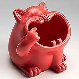 Cenicero de cerámica de gato de cara grande,adornos creativos para la decoración del hogar,contenedores de escritorio,caja de almacenamiento para oficina,sala estar,jardín,automóvil,regalos,ceniceros