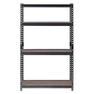 Muscle Rack UR361860PB4-WGB Steel Shelving in Silver Vein with Painted Board, 60  Height, 36  width, 18  Length,