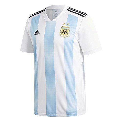 adidas Herren Argentinien Heim Replica Trikot, White/Clear Blue/Black, XL