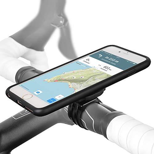 Wicked Chili QuickMOUNT Fahrradhalterung kompatibel mit iPhone 6S Plus / 6 Plus (5,5 Zoll) Fahrrad Halterung Bike Set mit Regenschutz Case + Hülle (IPx3, Ladekabel- und Köpfhörer Anschluss) schwarz