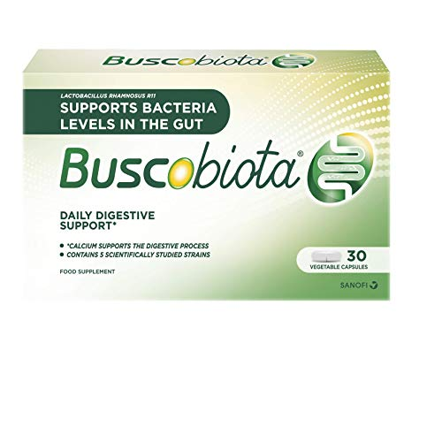 BuscoBiota Digestive Supplement Multi-Strain, Good Bacteria and Calcium - Daily Digestive Support