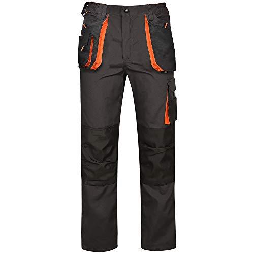 Bwolf Atlas Pantalon de travail classique pour homme avec poches multifonctions - Gris - XXXX-Large