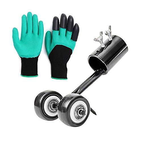 Weed Removal Tool + Bonus Garden Gloves | Standing Weed Puller Tool Stand Up Weeder | Crack and Crevice Weeding Tool | Weed Remover | Weed Grabber | Weed Wiper | Crack Weeder | Sidewalk Weeder