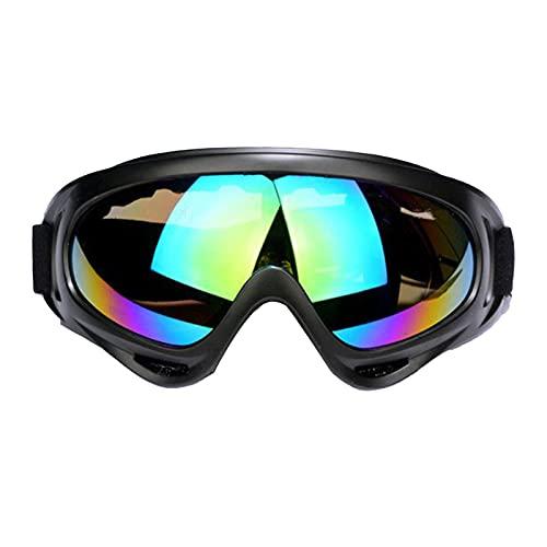 Qagazine Gafas de esquí al aire libre, para motocicleta, deportes de travesía, con viento y polvo, duraderas y portátiles, para esquí y snowboard