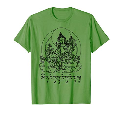 Buddha Green Tara Mantra Tibetan Buddhism Vajrayana T-Shirt