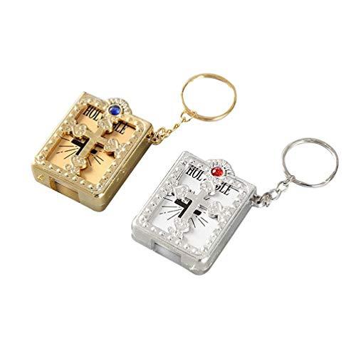 Chaveiro cristão em miniatura religiosa da BESPORTBLE, 4 peças, para batizados, eventos religiosos, comunhão, Bíblia, Grupos de Estudo