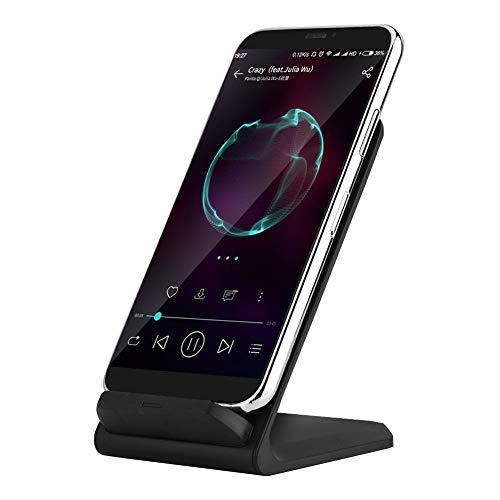 Draadloze oplader, Qi 10W 2-coil oplader 75% laadvermogen Veilig voor alle Qi standaard compatibele telefoons voor kantoor / privé huishoudens.