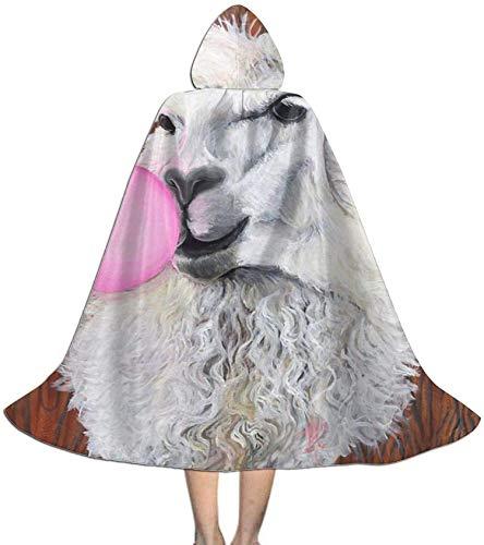 Romance-and-Beauty Capa para nios Capa con Capucha Bubblegum Dolly The Llama Capa Unisex con Capucha Capa de Bruja Capa Larga Capa de Fiesta de Cosplay de Halloween