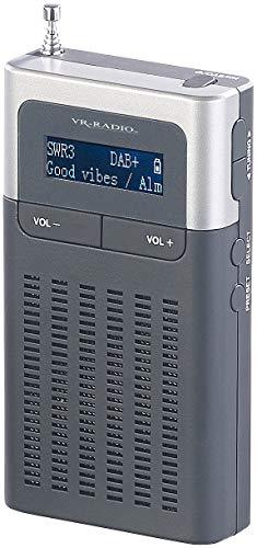 VR-Radio DAB Mini Radio: Digitales DAB+/FM-Taschenradio, Lautsprecher, Wecker, LCD-Display, RDS (Taschenradios)