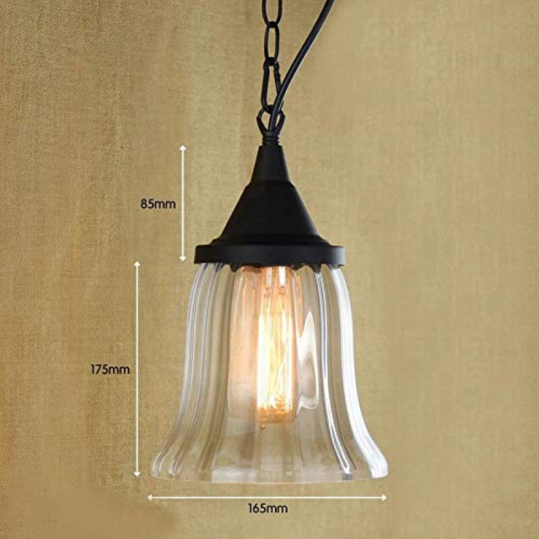 Recycelte Retro Hngeleuchte aus Glas mit Edison-GlühlampeKüchenleuchten und Kabinettbeleuchtung