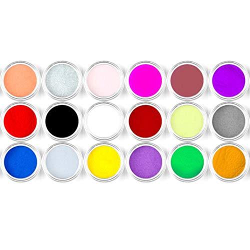 Hule Epoxid-Pigmente in 18 Farben, glänzender Glanz-Pailletten-Füller für Nägel, Farbe, Basteln – je 2,5 g