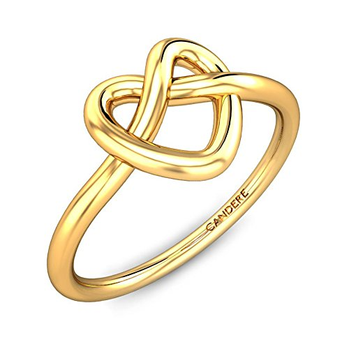 ( 9. ) Candere By Kalyan Jewellers 22k (916) Yellow Gold Weslee Ring