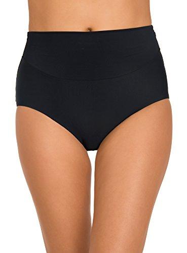 Miraclesuit Amoressa Women's Swimwear Martini High Waisted Tummy Control Swim Bottom, Black, 14