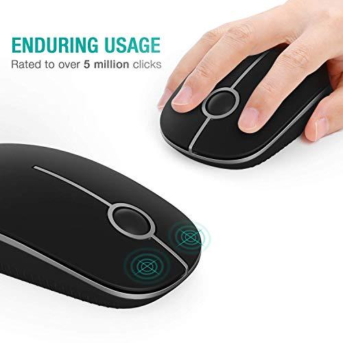 Kabellose Maus, Jelly Comb 2.4G Funkmaus Computermaus Kabellos Laptop Maus Wireless Optische Maus mit USB Nano Empfänger für Windows/Mac/Linux (Schwarz und Silber)