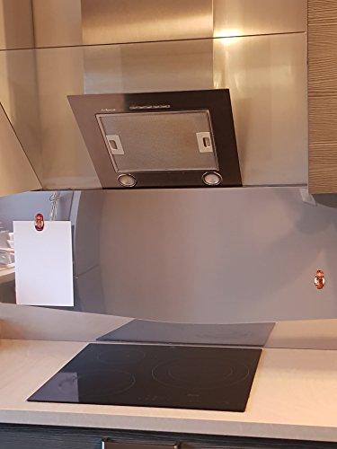 AluCouleur Fond de hotte/Crédence INOX Magnétique-8 Tailles-Hauteur 60 cm x (Longueur 60 cm)