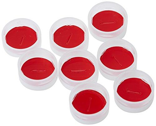 rouge 30/mm /1020 Lot de 5 hauteur 32/mm x 26/mm neolab 1/Bouchon en caoutchouc/