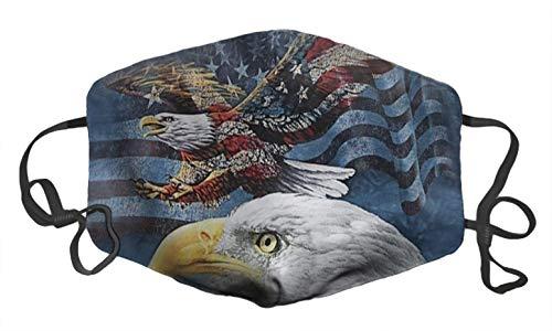 FQJNS Face Shield Mask Fashion Image Anti Dust Pollution Balaclavas Cotton Mask Unisex (USA Flag American Patriotic Eagle Printed M39)