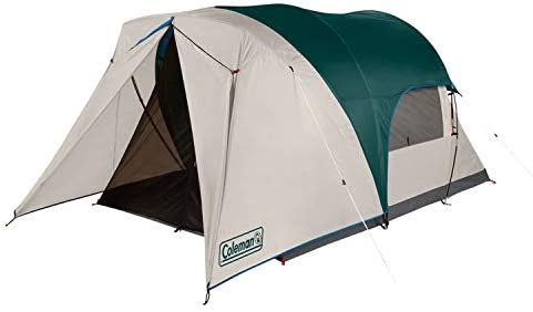 Coleman Cabin Camping Tent with Weatherproof Screen Room 4 Person Cabin Tent with Enclosed Screened product image