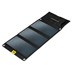 Powertraveller Falcon 21: Portable 21-Watt Folding Solar Charger – 5V USB and 20V DC outputs, Splashproof, Rugged, Lightweight, Charges Laptop (under 40-Watt), Tablet, Smartphone, SAT Phone, GPS, Act