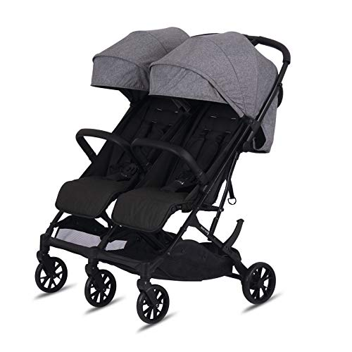 knorr-baby 88550 Poussette double Twin-Easy Fold Gris