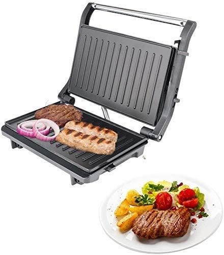 WZLJW Sandwich s, Prensas, Bistec máquina Profesional de la Parrilla Bistec for Uso doméstico Placa de Hierro Barbacoa Carne Máquina con Speedy calentarse y fácil Limpieza 750W liuchang20 ggsm