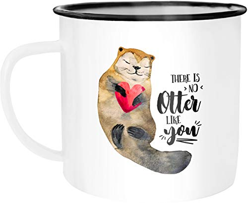 Moonworks Taza esmaltada Otter There is noch Otter like you, frase en...