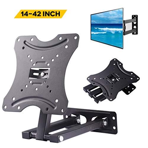 Soporte de pared para televisores de 14 a 42 pulgadas, plano y curvado, hasta 30 kg, máx. VESA 200 x 200 mm