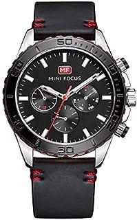 Mini Focus Mens Quartz Watch, Analog Display and Leather Strap - MF0007G.04