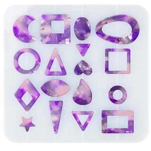QKFON Moldes de silicona para pendientes, moldes de fundición de joyería, reutilizable, para hacer pendientes, pendientes, colgantes, joyas, regalo para amigos, niños y niñas