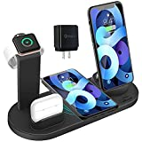 Wireless Charger 4 in 1 Charging Dock for...