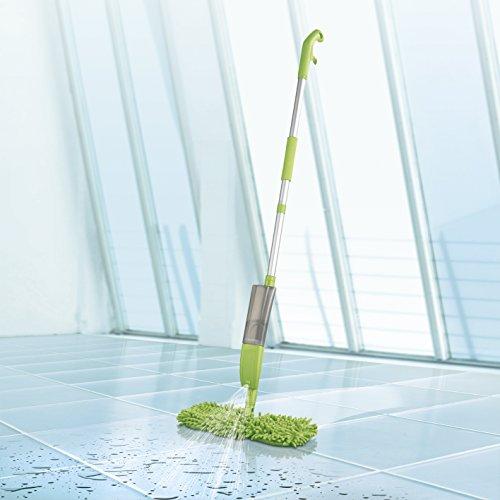 CLEANmaxx Spray-Mopp 3in1 mit Ersatz-Wischtuch (Mit integrierter Sprühfunktion) (Spraymopp, grün)