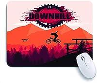 ECOMAOMI 可愛いマウスパッド マウンテンバイクダウンヒルフリーライドエクストリームスポーツ 滑り止めゴムバッキングマウスパッドノートブックコンピュータマウスマット